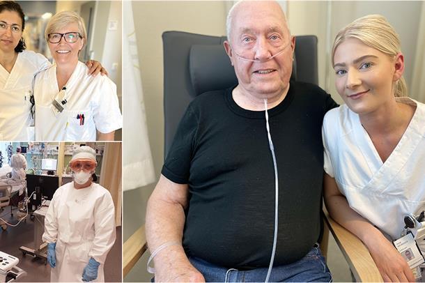Sykepleiere og lege som har jobbet med koronapasienter